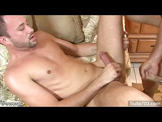 Awesome married guy david scott gets nailed by a sinful gay girth brooks