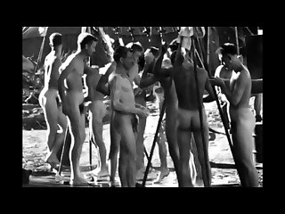Collection of spycam clips of wwii soldiers showers exams etc