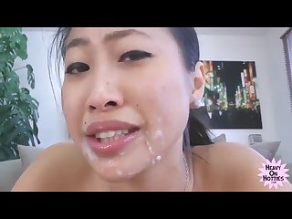 Asian cutie gets her ass fucked