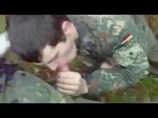 Str8 german soldiers first time swallow cum