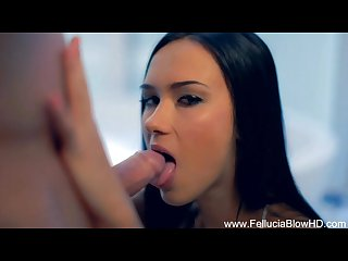 Beautiful beautiful brunette blowjob