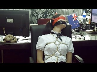 Tied Ballgagged and blindfolded