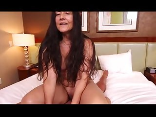 Pov of fucking a hot latina granny