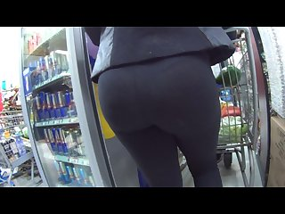 Hot ass in see thru leggings shop and street