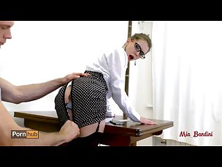 Hot teacher seduces her student fucking her ass to mouth mia bandini