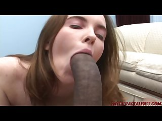 Young married chick cheats on husband with foot long black cock