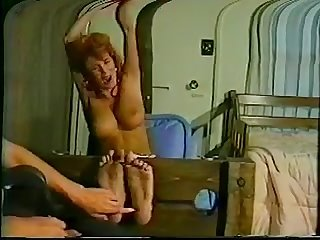 Whitney prescott foot tickled in stocks