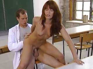 Gorgeous german lab assistant fucked