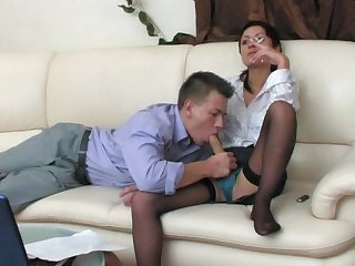 Hot androgynous shorthair femdom smoke sex strapon guy ladiesfuckgents