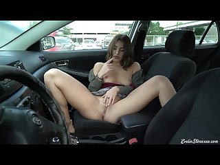 Parked car public masturbation strip tease evelin stone
