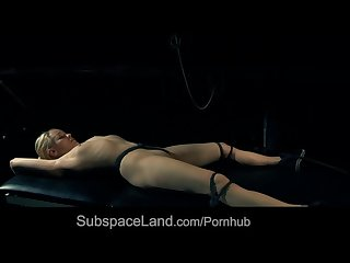 Pretty blonde lola bound and fucked by tough master