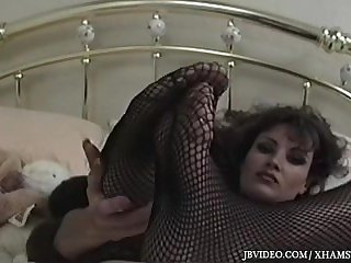 Retro foot tease with young Lisa ann
