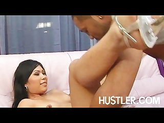 Thick black cock slamming tight asian pussy
