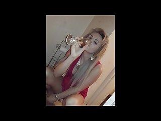Teen classy piss drinking