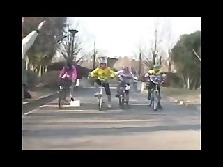 Japanese bicycle training learning to ride