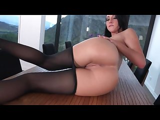 Sabrina banks in pantyhose