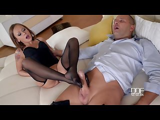 Katarina muti gives thomas stone a mesmerizing footjob