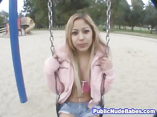 Naughty petite asian public pickup