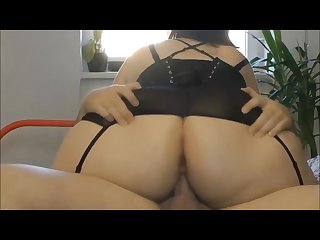 Bbw Pawg sucks and sits on dick