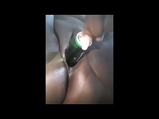 Heiniken Beer Bottle in Pussy Suriname