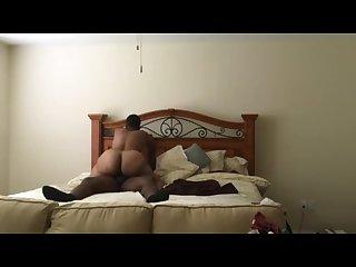 Big booty ebony bbw riding her man