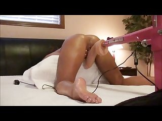 Tight tanned wife takes on huge 12 inch dildo with 8 5 inch girth orgasms
