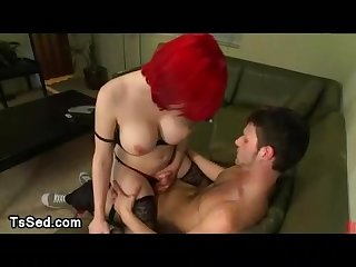 Sarina valentina gets her dick and tits sucked by dude
