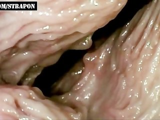 How does sex look from inside vagina close up