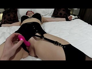 Horny girlfriend tied up and teased then fucked hard with multiple orgasms