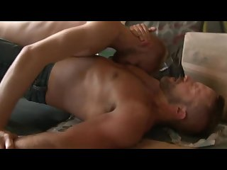 Dirk caber fucks with a blonde boy in a wareshouse