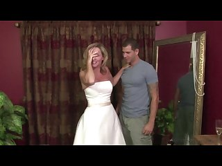 Stepmother Jodi West Fucks son in her wedding dress