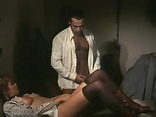 Vintage maid fucks the man of the house