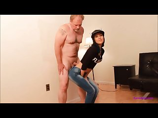 Short asian cummy ballbusting