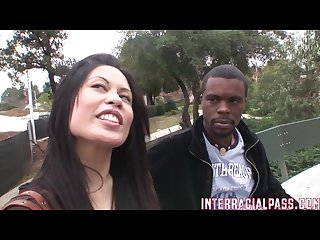 Sasha meets big mann on campus and he gapes her