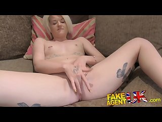 Fakeagentuk filthy agent gives blonde scottish minx a cum filled pussy