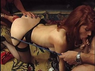 Fovea hot redhead lisa crawford threesome dp with toys