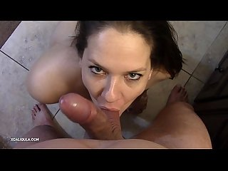 Sweetest POV Cock Sucking! Azzurra worshipping a cock !