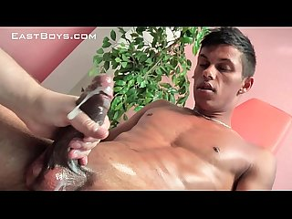 Latin twink gets handjob