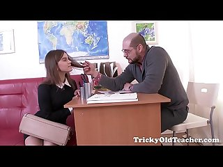 Tricky old teacher karolin drops her panties