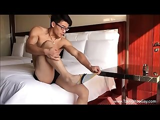Cute muscled asian twink