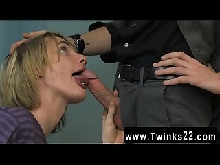 Amazing gay scene the cute blond boy is getting a personal lesson in