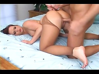 Nude crotchless pantyhose sex and foot fetish