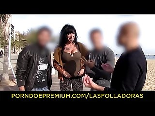 LAS FOLLADORAS - Busty Spanish MILF pornstar Suhaila Hard seduces and fucks amateur guy