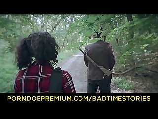 Badtime stories torture Halloween story in the Forest with german teen khadisha latina