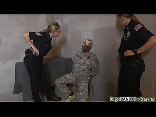 Blonde cop banged by black dude