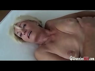 Beautiful German Granny Franziska Striptease And Masturbation