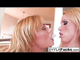 Sexy Nikki Benz and Shyla together for a girl on girl
