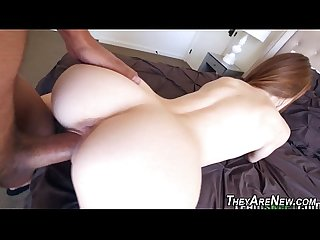 Teen newbie jizzed by bbc
