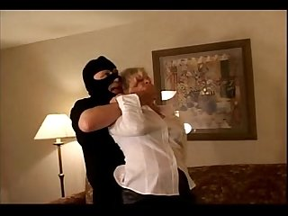 Milf is tied up gagged and forced to fuck on couch