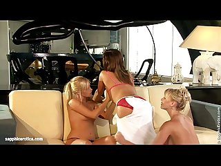 Delightful Daisies sensual lesbian lovemaking with blonde brunette
